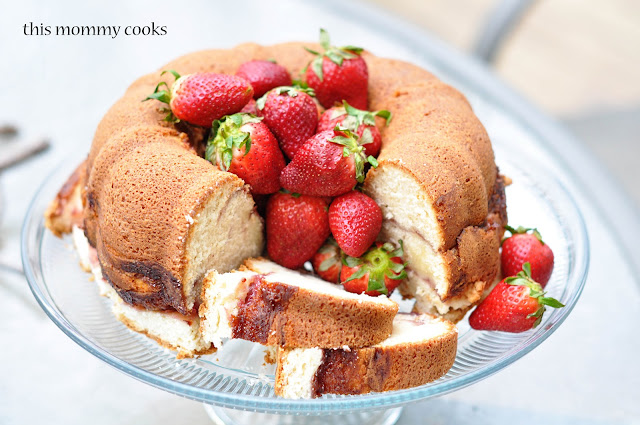 Strawberry Swirl Cream Cheese Pound Cake Southern Living