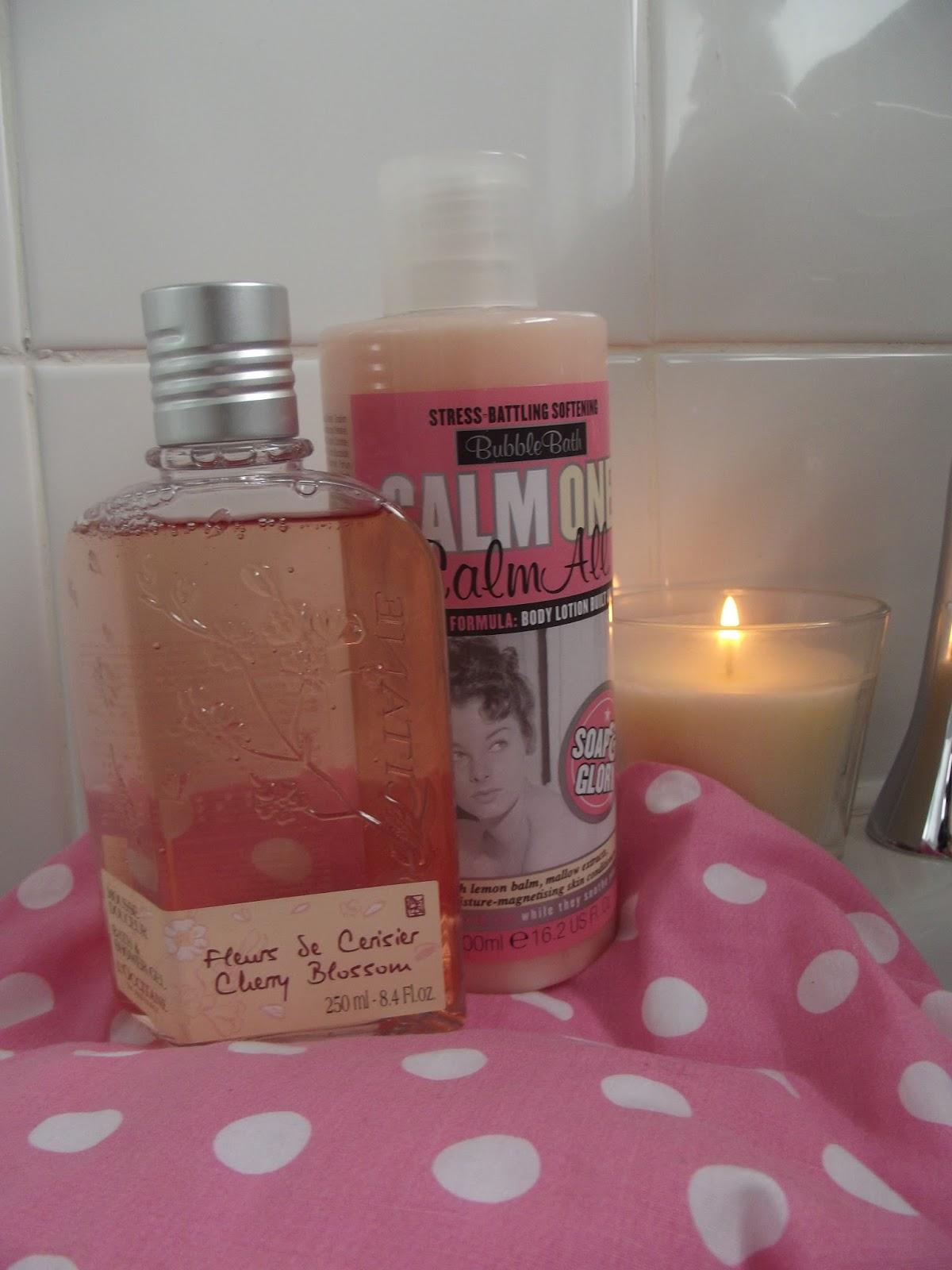 blushful beauty bubble bath essentials l occitane and