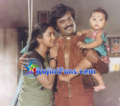 Rajinikanth & Radhika in 'Nallavanukku Nallavan' Movie