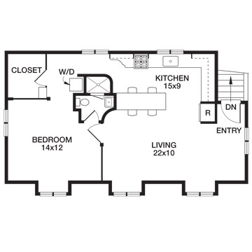 Attic works an attic apartment for 24 x 24 apartment layout