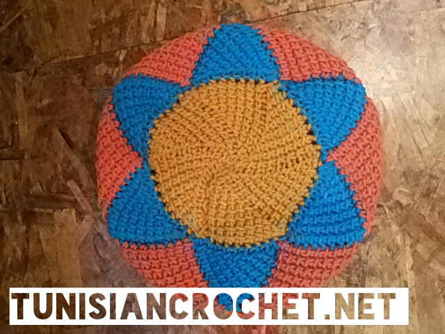 Crocheting Rows In A Circle : My Hobby Is Crochet: Short Row Circle in Tunisian Crochet - How to ...