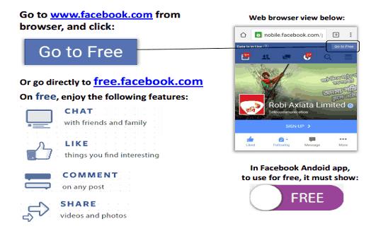 robi free facebook