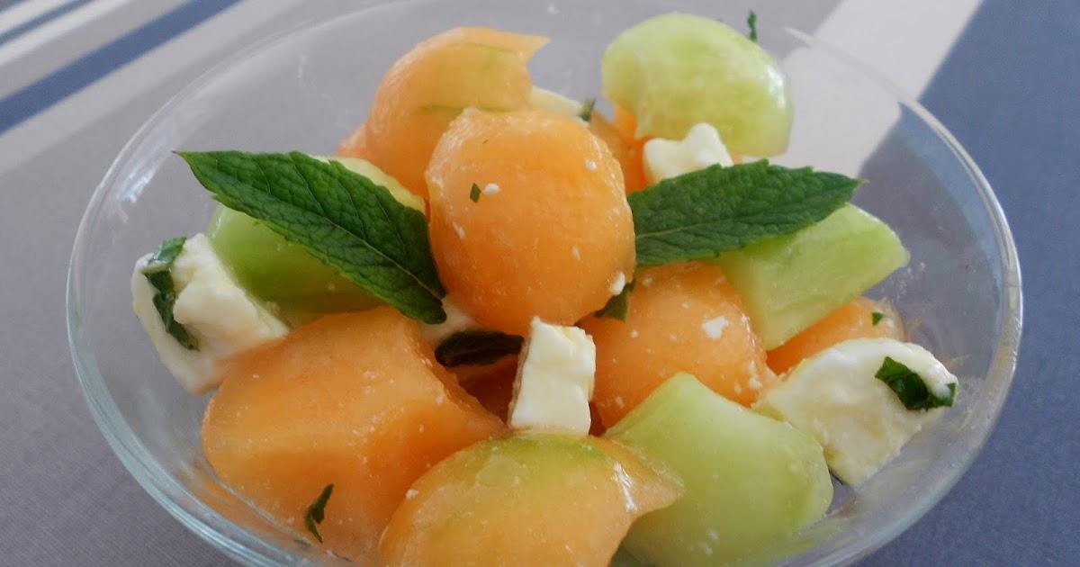 dey cuisine salade estivale melon concombre feta menthe. Black Bedroom Furniture Sets. Home Design Ideas
