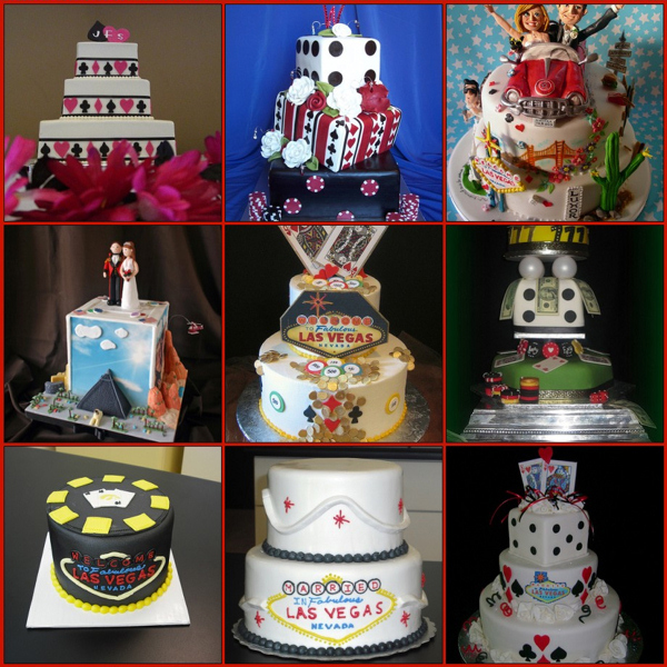 Unique las vegas wedding cakes inspiration just for wedding for Las vegas themed weddings
