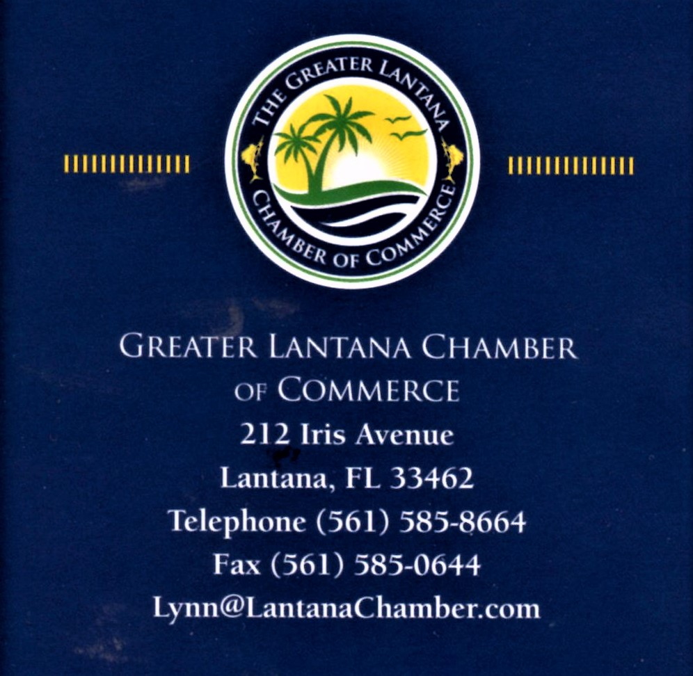 At Lake Worth City Commission tomorrow. Presentation: Lantana Chamber of Commerce.