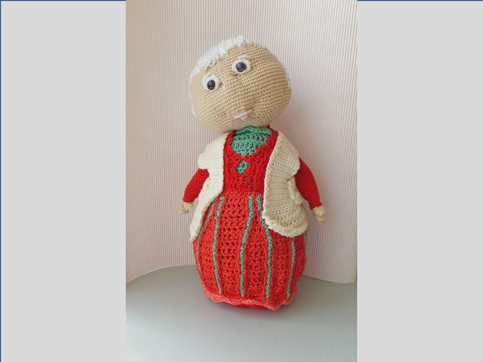 Häkeln: Oma Häkelanleitung XXL Amigurumi Puppe