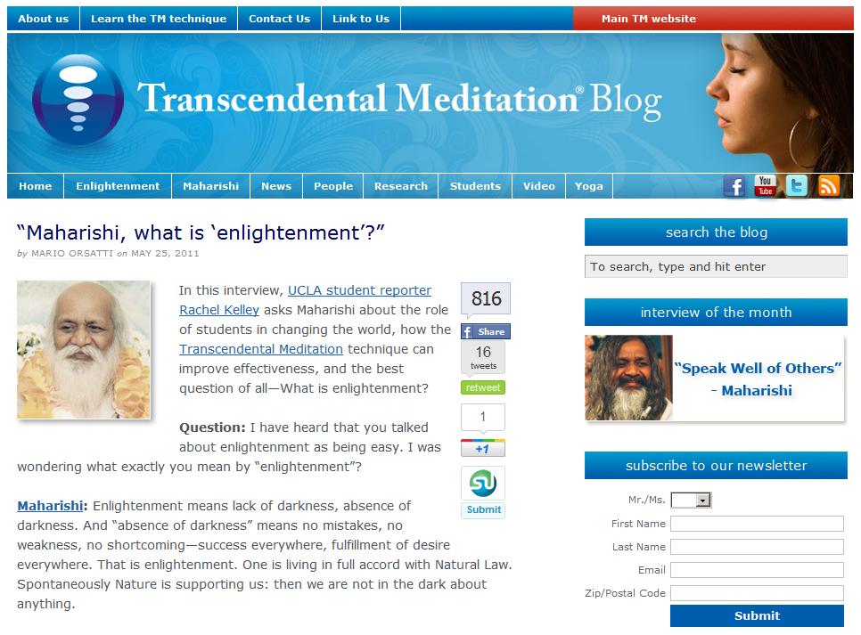 practicing transcendentalism