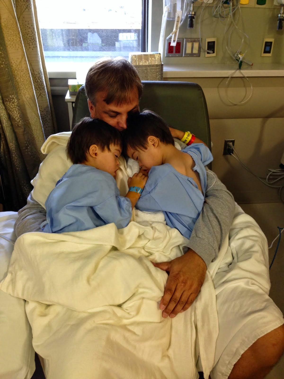 Papa w/ Shane and Wyatt after surgery