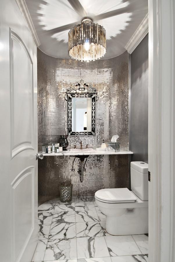 The Granite Gurus: 5 Glamorous Silver Bathrooms