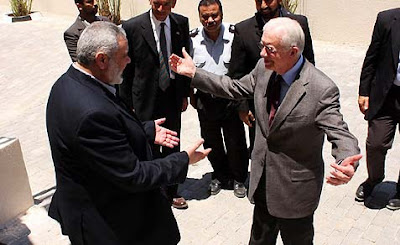 Jimmy Carter and Ismail Haniyeh