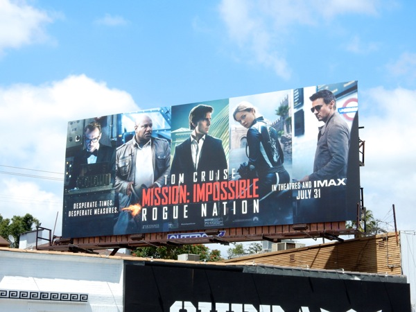 Mission Impossible Rogue Nation film billboard