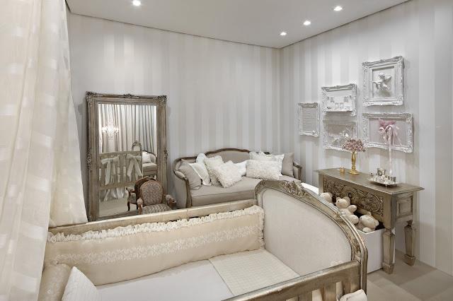 quarto BB  espelho Luxury baby room Era Uma Casa