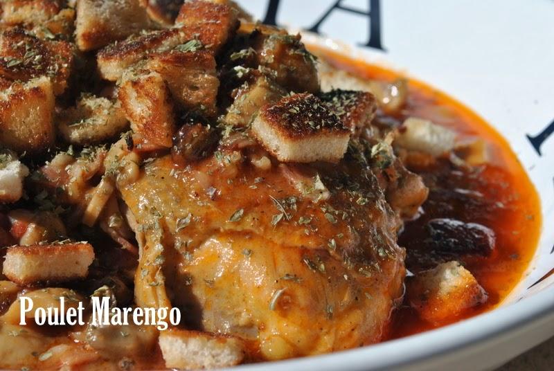 Le mas de la gourmandise poulet marengo - Poulet marengo recette ...