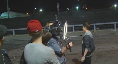 Greyson Chance filming his new Sunshine & City Lights Music Video