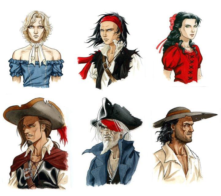 Diseños de personajes de Barracuda por Jérémy Petiqueux