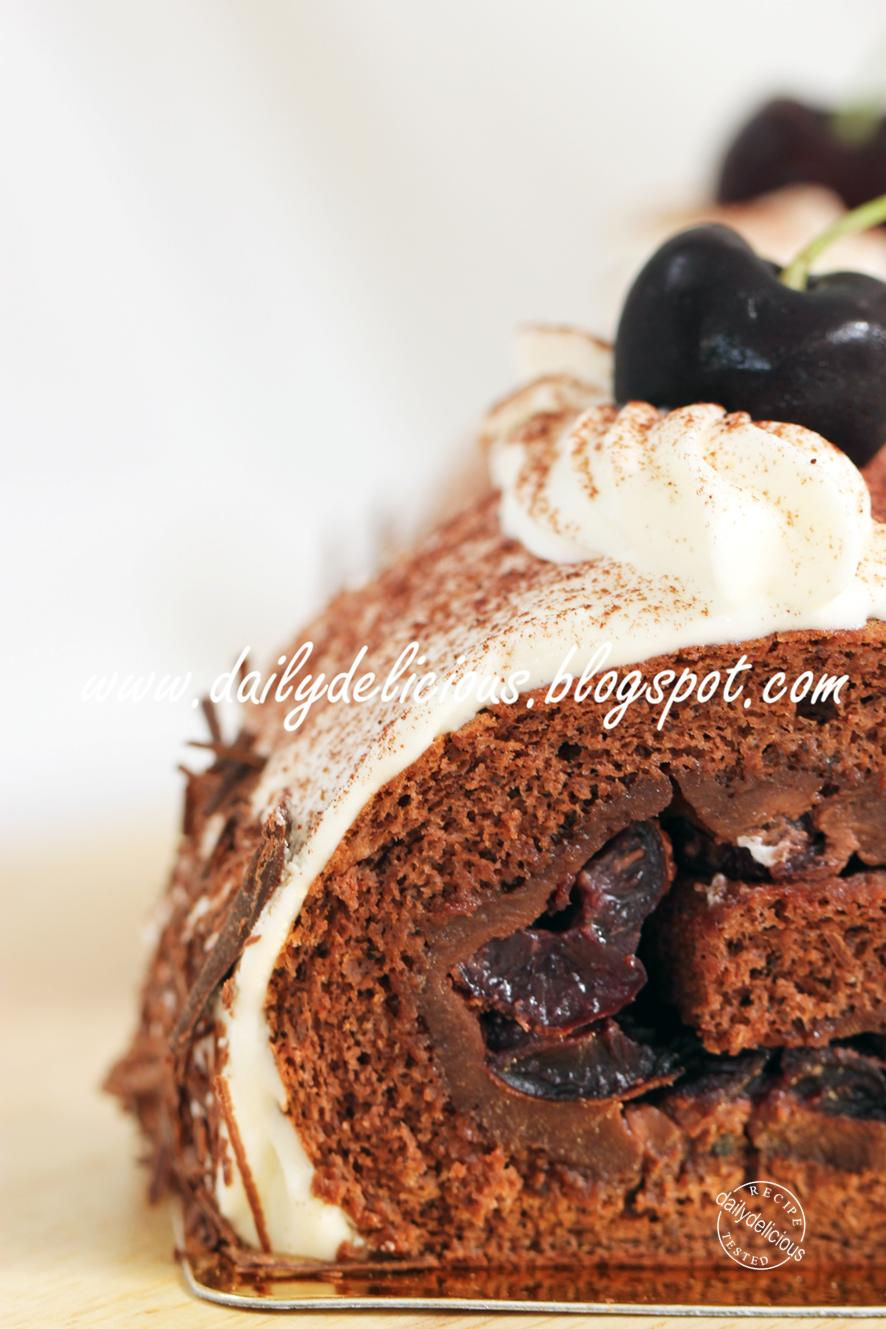 Chocolate Cake Rolled Icing