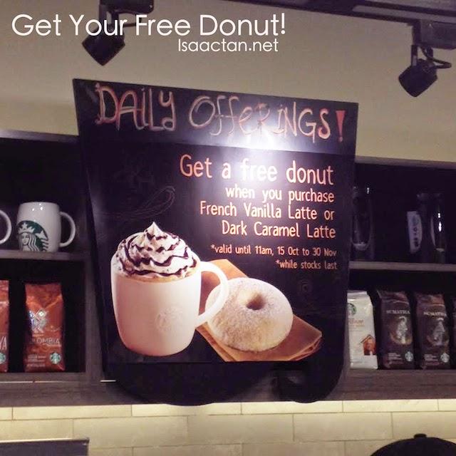 Free Donut at Starbucks Malaysia