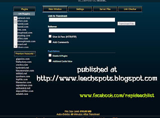 gigasize.com, filefactory.com, crocko.com, turbobit.net, filesmonster.com, letitbit.net, ryushare.com, hipfile.com, filemaster.com, rapidshare.com, uploaded.net, depositfiles.com, extabit.com, lumfile.com,