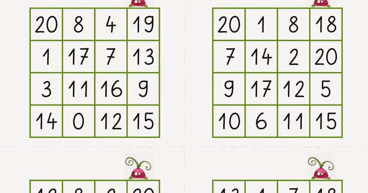 arbeitsblatt vorschule 187 bingo spielkarten zum ausdrucken
