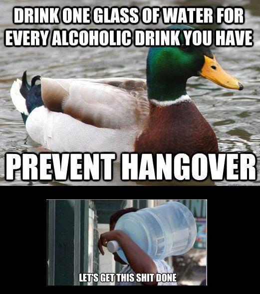 Drink One Glass Of Water For Every Alcoholic Drink You've