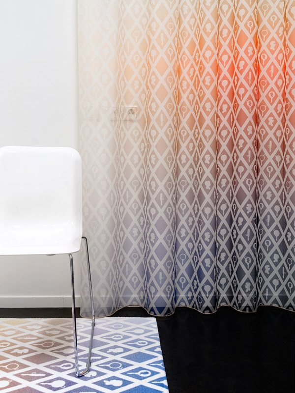 Colorful gradient curtains