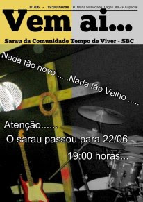 Sarau - 22/06 - 19:00 HORAS