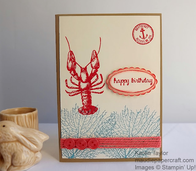 Stampin' Up! By the Tide card
