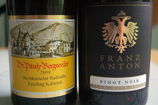 Riesling and Pinot Noir from Germany