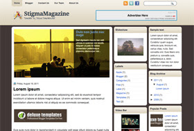 Stigma Magazine Blogger Template