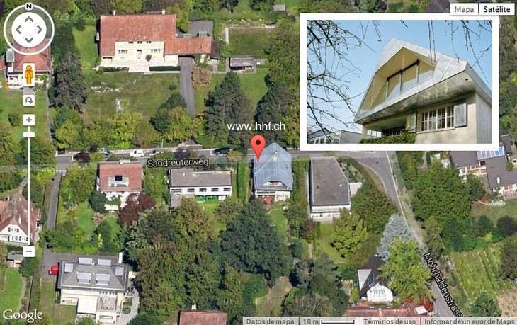 Imagen de un mapa satelital con la casa reformada en el centro