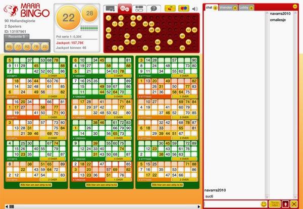 Maria Bingo Ticket Screen