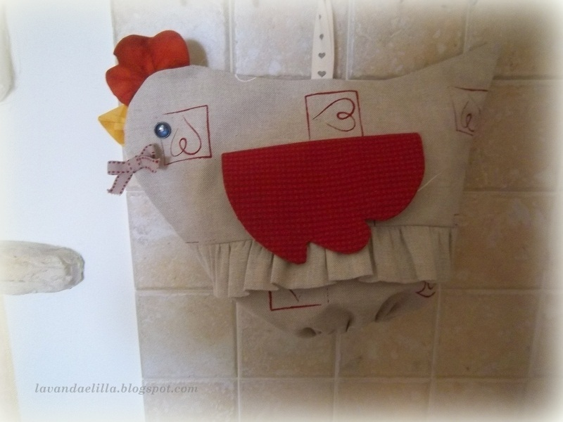Lavanda e lill galline porta sacchetti sal alfabeto - Porta sacchetti ...