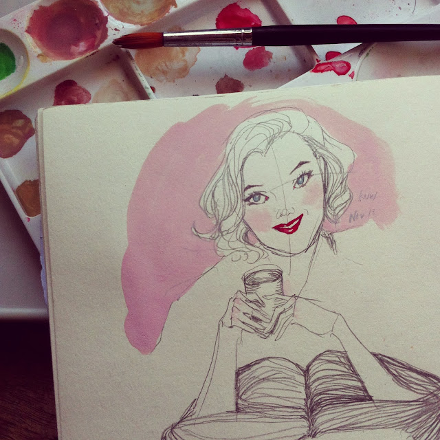 Kitty N. Wong / Marilyn Monroe sketch