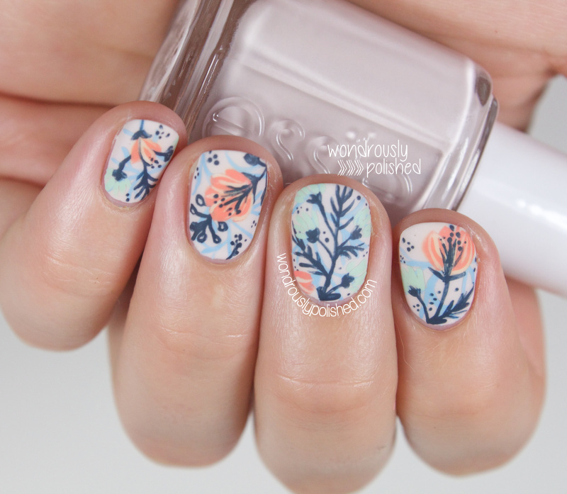 Wondrously Polished A Floral Dud Nail Art