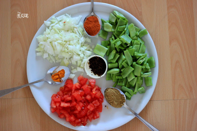 Avaraikkai Kara Kolambhu Broad Beans Spicy Curry Ingredients