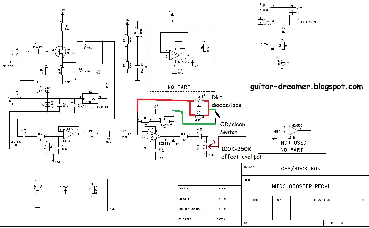 Diy Clean Boost Pedal Wiring Diagram Schematic Diagrams Guitar Effects Rocktron Nitro Repair And Mods Dreamer Light