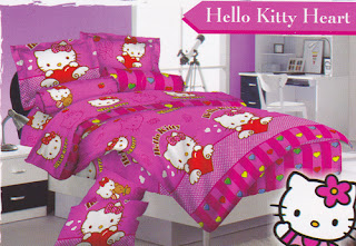 Sprei Love Story Hello Kitty Heart