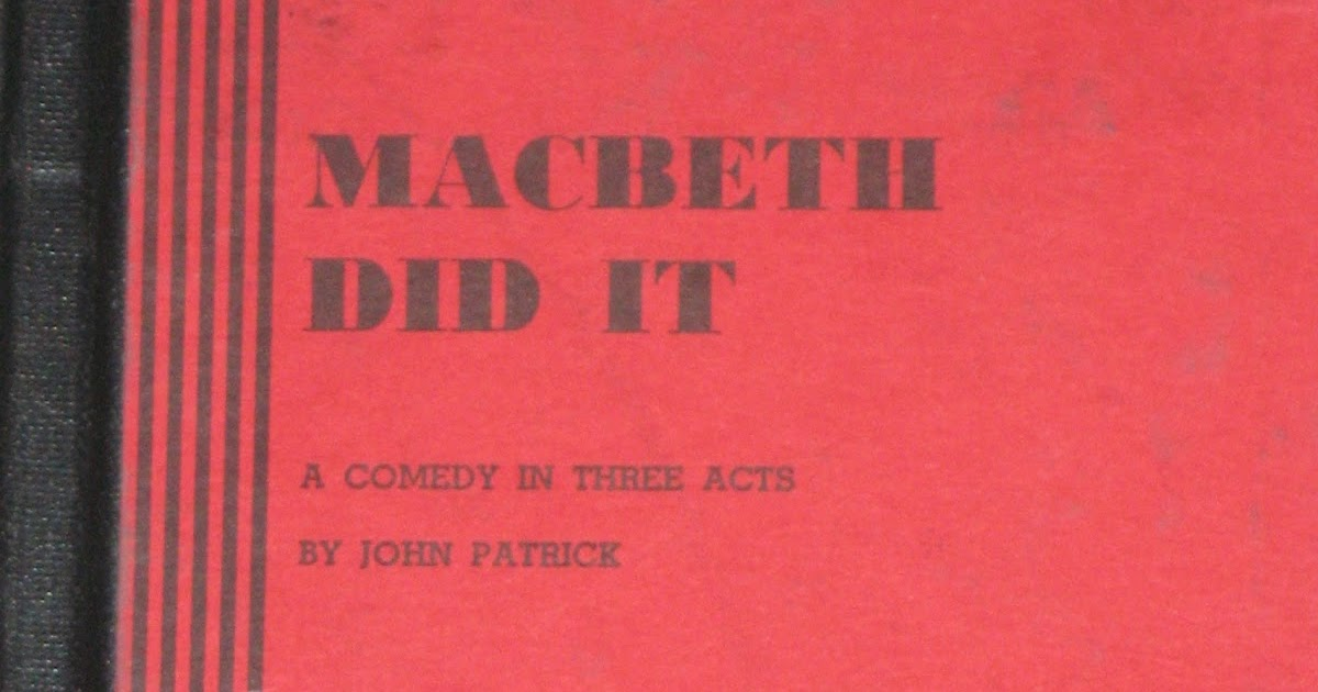 macbeth a study of the Find all available study guides and summaries for macbeth by william shakespeare if there is a sparknotes, shmoop, or cliff notes guide, we will have it listed here.