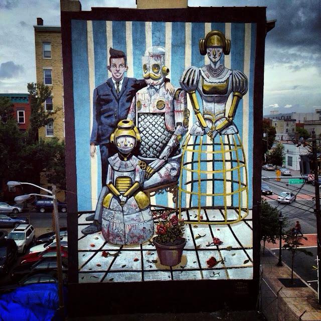 New Street Art Piece In Jersey City By Italian Street Artist Pixel Pancho. 1