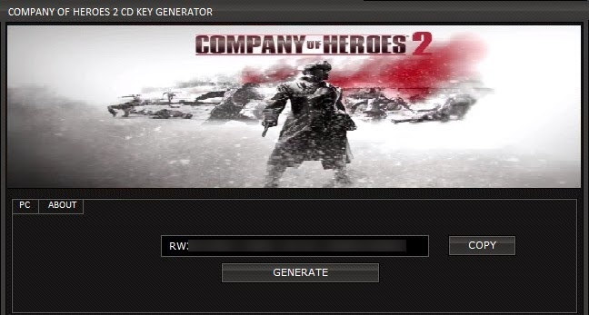 Company Of Heroes 2 CD KEY Generator
