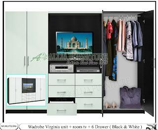 Lemari tv sekat minimalis auto design tech for Harga kitchen set minimalis olympic