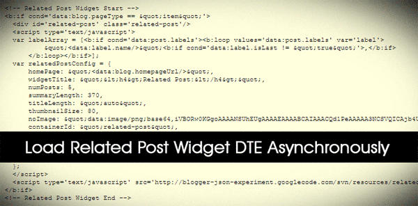 Asynchronous JS Related Posts DTE
