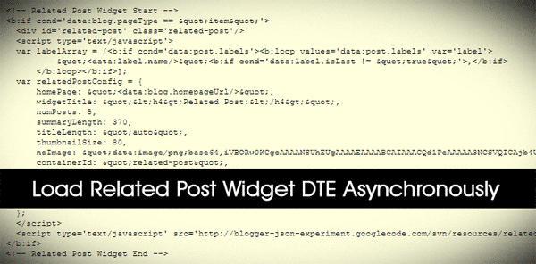 Memuat JS Related Posts DTE Dengan Asynchronous