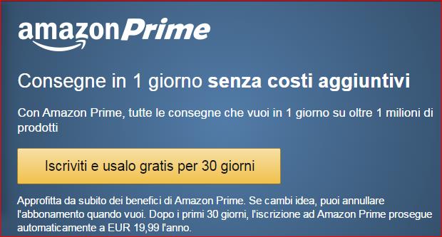 Approfitta di Amazon Prime