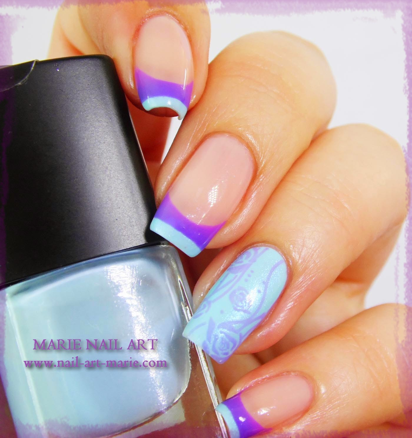 Nail Art Double French Thermique1