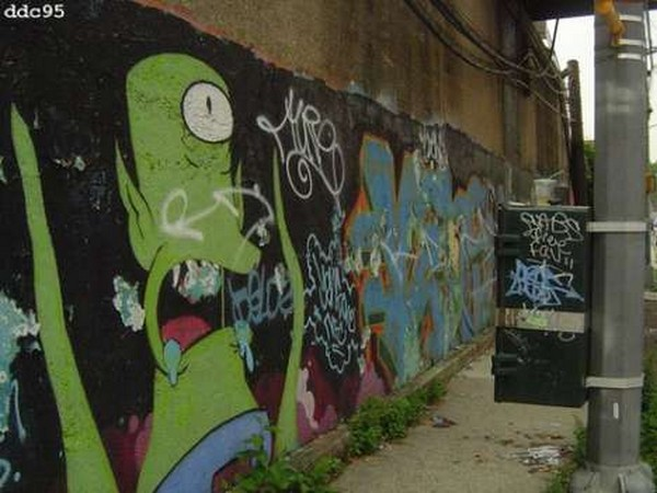 Graffitis de los Simpson