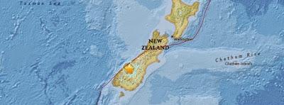 TERREMOTO DE 5,8 GRADOS SACUDE LA ISLA SUR DE NUEVA ZELANDA
