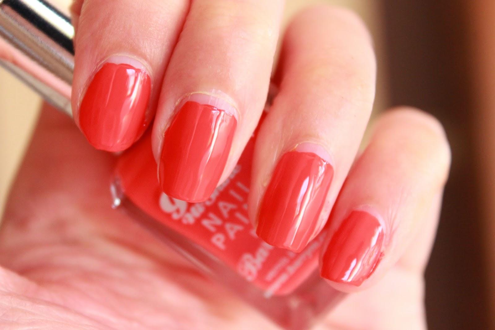review swatches barry m hi-shine nail paint satsuma