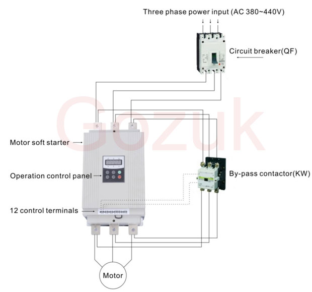 Soft starter wiring elec eng world for Single phase motor soft starter