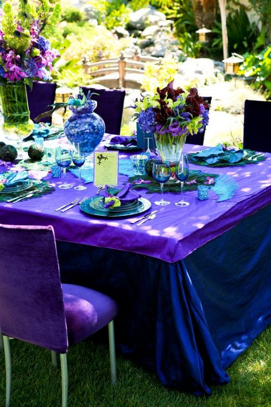 Great Ideas For The Busy Little Bride Peacock Wedding Centerpieces